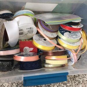 Box full of ribbons